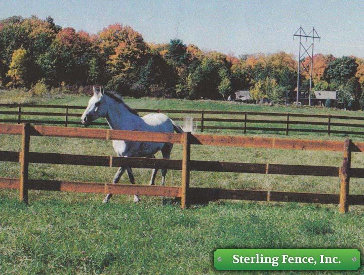 build wood horse fence