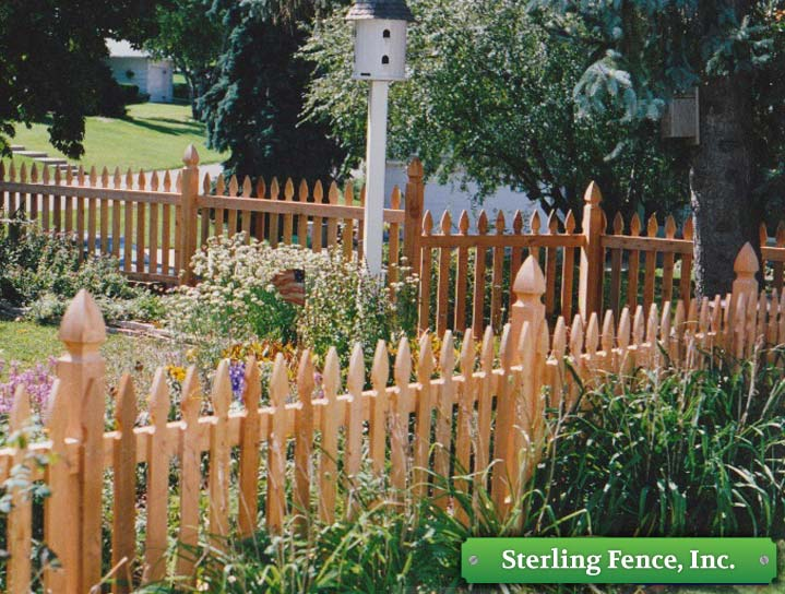 Wood Picket Fence Wooden Fencing Minneapolis Mn